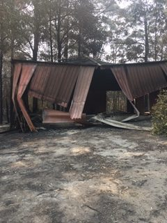 Storage Shed after the fire