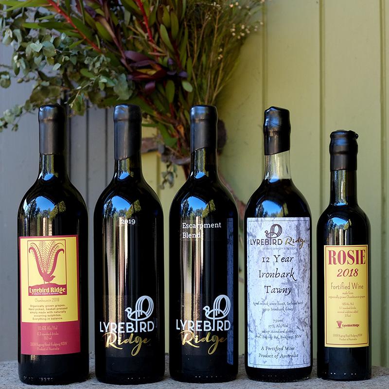 lyrebird ridge organic wine range 2020